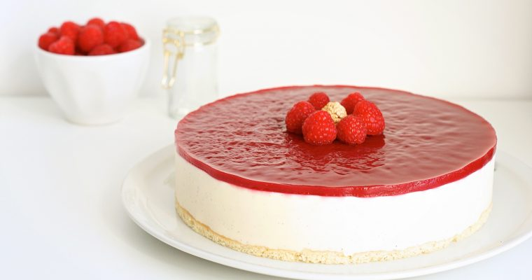 Vanilla Raspberry Bavarian Cake