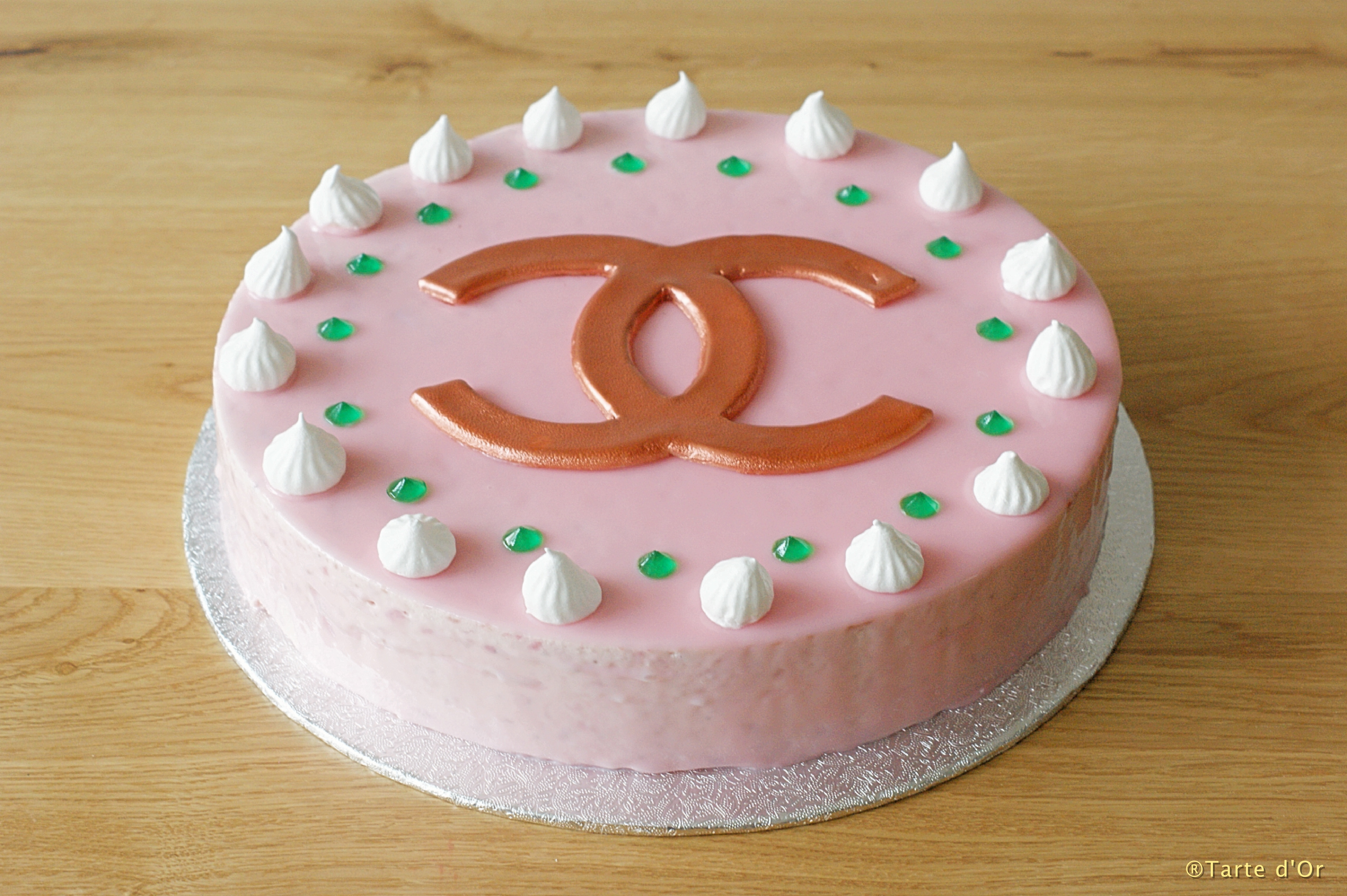 Strawberry Meringue Mousse Cake