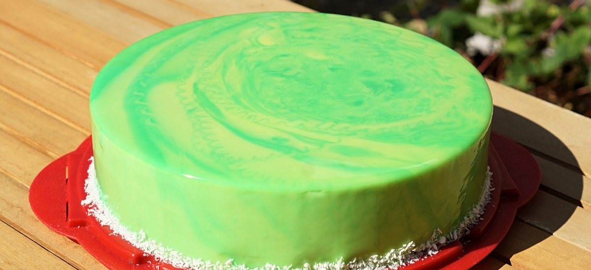 Coconut Lime Raspberry Entremet